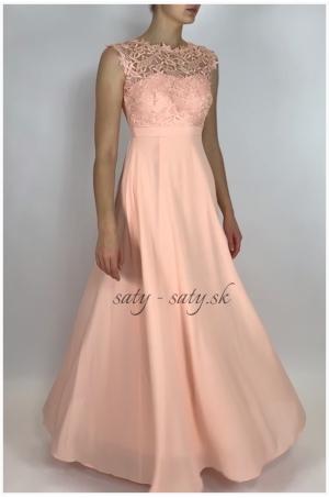 Dlhé spoločenské šaty marhuľové EL-609
