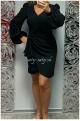 Krátke spoločenské šaty čierne KO-669