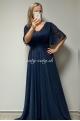 Dlhé spoločenské šaty tmavo modré BE-675