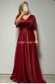 Dlhé spoločenské šaty bordové BE-676