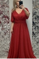 Dlhé spoločenské šaty červené BE-684