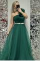 Dlhé spoločenské šaty zelené LI-696