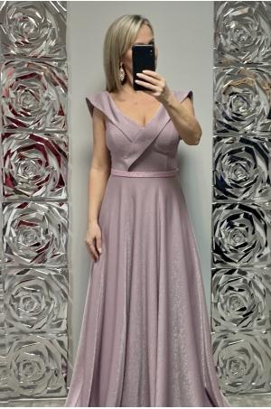 Dlhé spoločenské šaty staroružové FE-705