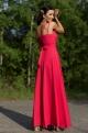 Dlhé spoločenské šaty červené EL-711