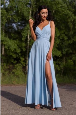 Dlhé spoločenské šaty svetlo modré EL-712