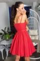 Krátke spoločenské šaty červené EL-716