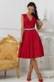 Krátke spoločenské šaty červené EL-719