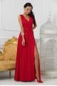 Dlhé spoločenské šaty červené EL-708