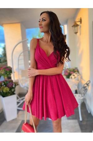 Krátke spoločenské šaty ružové EL-717