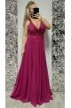 Dlhé spoločenské šaty ružové DI-722