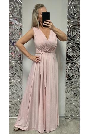 Dlhé spoločenské šaty marhuľové EL-723