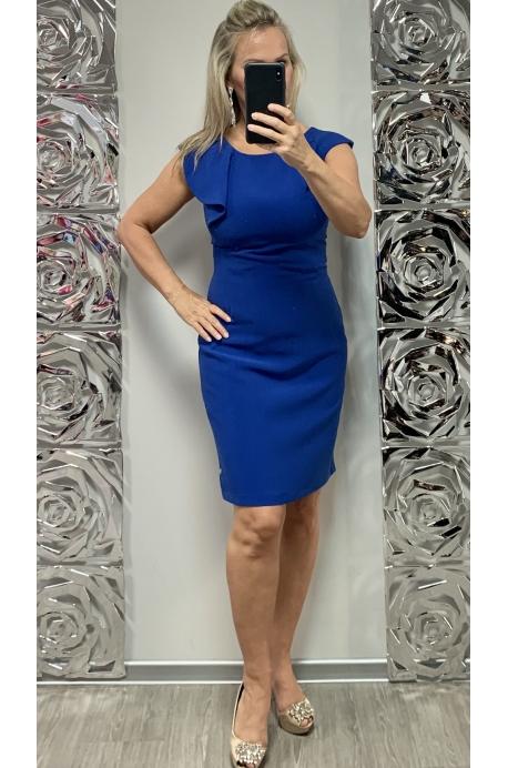 Krátke spoločenské šaty slivkovo modré DA-730