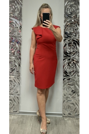 Krátke spoločenské šaty červené DA-731