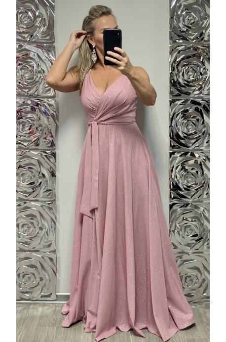 Dlhé spoločenské šaty staroružové EL-706