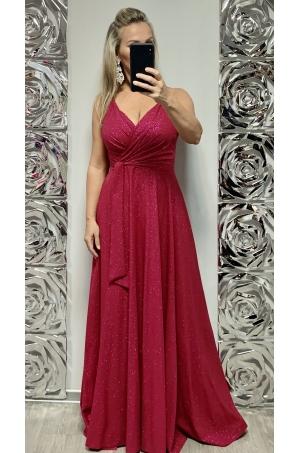 Dlhé spoločenské šaty ružové EL-714