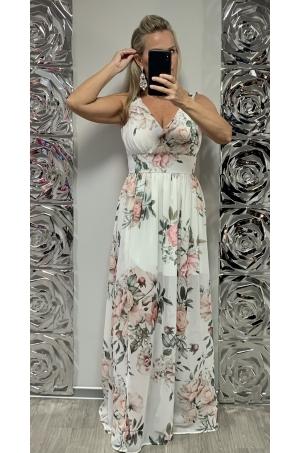 Dlhé spoločenské šaty kvetované MO-740