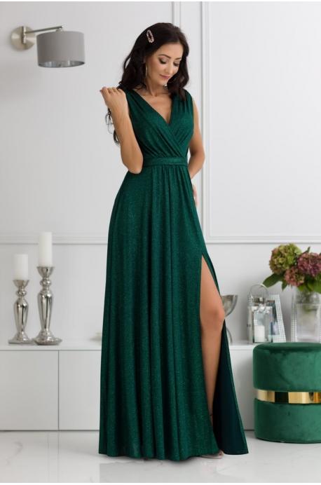 Dlhé spoločenské šaty zelené  EL-725