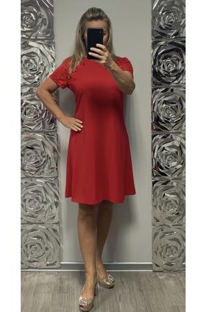 Krátke spoločenské šaty červené KO-735
