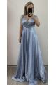 Dlhé spoločenské šaty svetlo modré RU-744