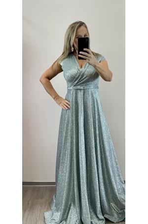 Dlhé spoločenské šaty mintové RU-745