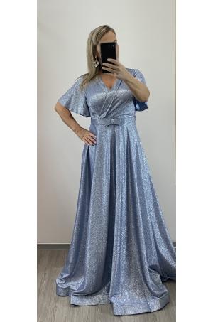Dlhé spoločenské šaty svetlo modré RU-751
