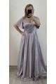 Dlhé spoločenské šaty fialové RU-753