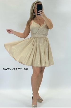 Krátke sploločenské šaty zlaté