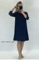 Krátke spoločenské šaty tmavo modré