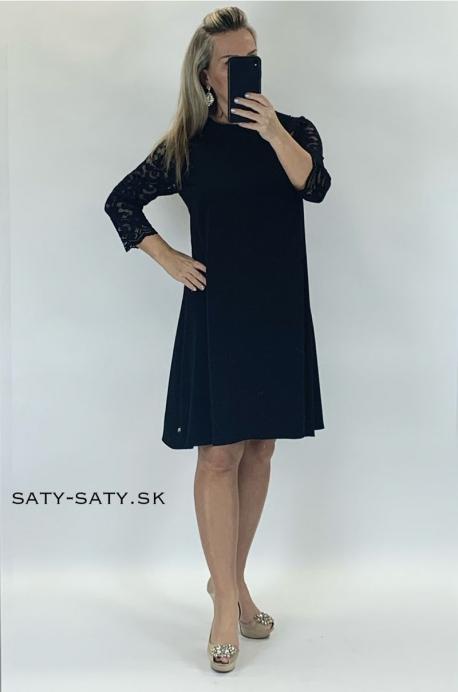 Krátke spoločenské šaty čierne