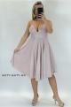 Krátke sploločenské šaty svetlo ružové