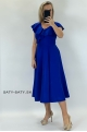 Krátke spoločenské šaty slivkovo modré