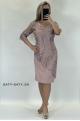 Krátke sploločenské šaty staroružové ružové