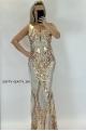 Dlhé spoločenské šaty zlaté