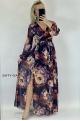 Dlhé spoločenské šaty kvetované