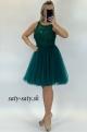 Krátke spoločenské šaty zelené
