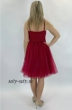 Krátke spoločenské šaty bordové