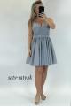 Krátke spoločenské šaty sivé