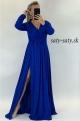 Dlhé spoločenské šaty slivkovo modré