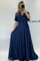 Dlhé spoločenské šaty  modré