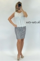 Krátke spoločenské šaty biel sivé