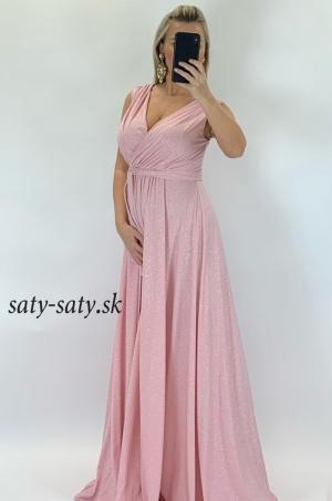 Dlhé spoločenské šaty svetlo ružové