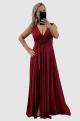 Dlhé spoločenské šaty bordové EL-819