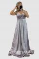 Dlhé spoločenské šaty fialové RU-756