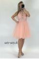 Krátke sploločenské šaty svetlo ružové DI-821