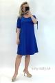 Krátke šaty slivkovo modré ZA-827