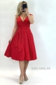 Krátke spoločenské šaty červené EL-832