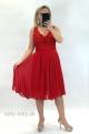 Krátke spoločenské šaty červené DI-834