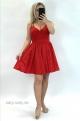 Krátke spoločenské šaty červené EL-835