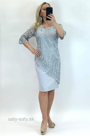 Krátke spoločenské šaty sivé RO-840