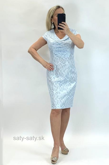 Krátke šaty svetlo modré LI-843